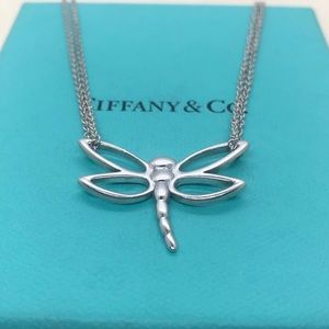 Tiffany & Co. Dragonfly Necklace Silver 16""